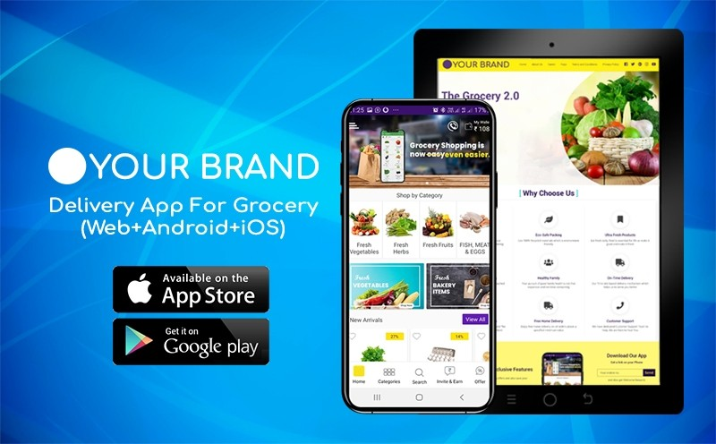 Delivery App For Grocery (Web+Android+iOS)